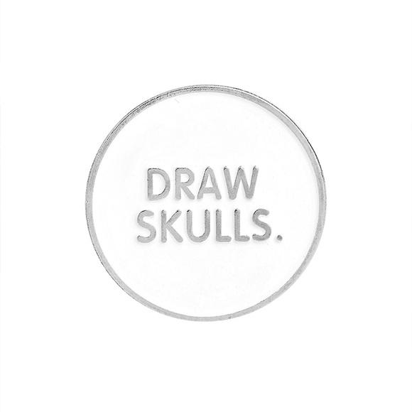 Draw Skulls Artists Art Enamel Pins Boutique